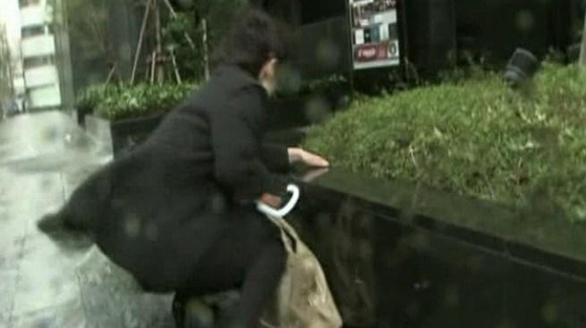 Vientos feroces azotan Japón