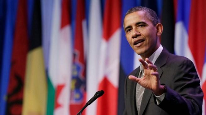 Obama pasa la noche en casa