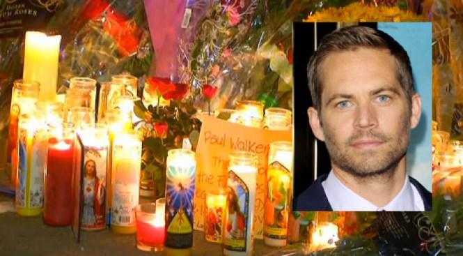 Velas y llanto donde murió Paul Walker