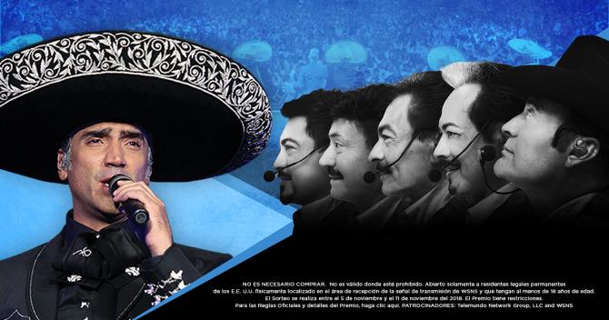 Gana boletos para el concierto de Alejandro Fernández